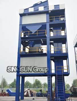 mixing tower of SAP80 asphalt batching plant