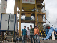 SAP120 asphalt plant project