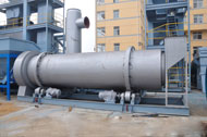 dryer drum in asphalt plant factory